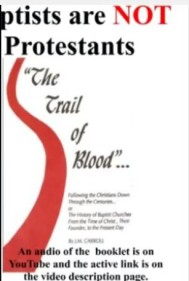 Baptists are not Protestants by Dr. Harold Sightler. Click image to go to a reading of