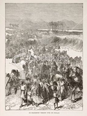 Israelites crossing the Jordan River