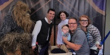 Families attending Cosmic Christmas will be able to have their picture taken with Star Wars characters.