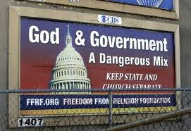 This sign gets it wrong: we want Separation of Church and State not Separation of God and State