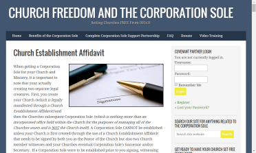 Click to go directly to Church Establishment Affidavit Page
