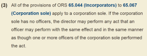 ORS § 65.067(3). Click the above image to go directly to the law.
