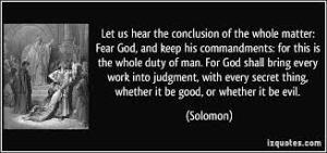 Ecclesiastes 12.14