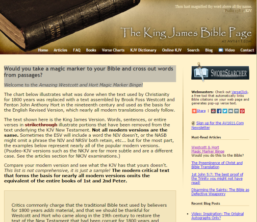 Click the above to go to The King James Bible Page website.