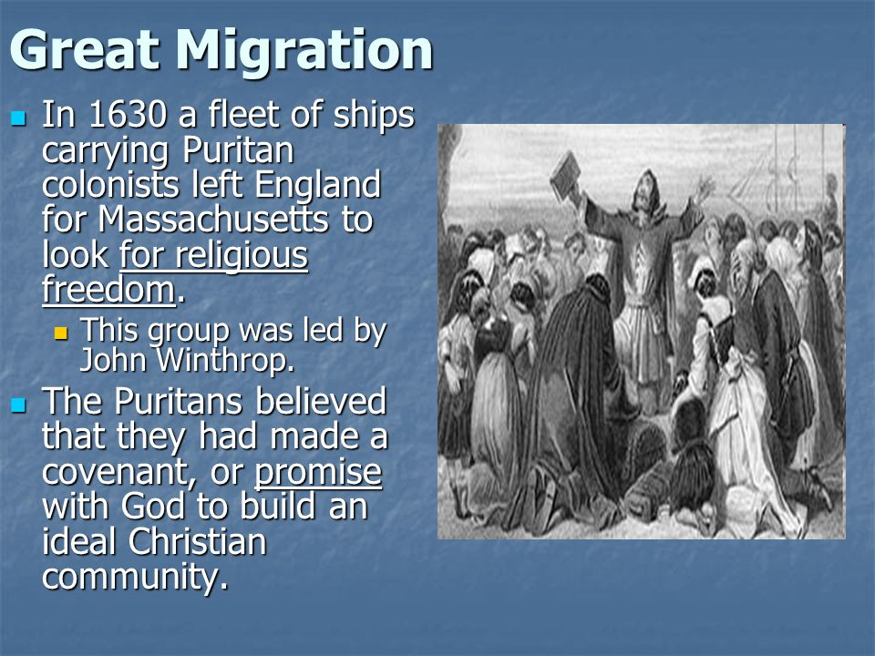 great migration 1630